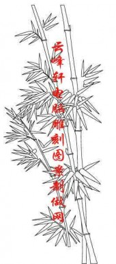 梅兰竹菊-白描图-竹子-mlxj050-梅兰竹菊全图