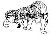 虎2-矢量图-熊据虎�N-73-虎路径图