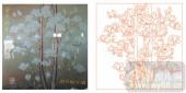2011设计艺术玻璃刻绘-玉兰花5-装饰玻璃