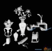 博古-花瓶-008-博古架浮雕图库