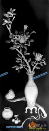 古董架002-如意花瓶-007-古董架浮雕图库