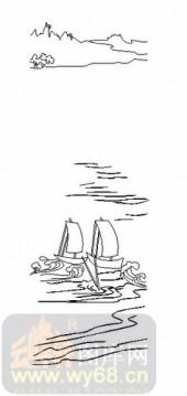 雕刻玻璃-08四扇门(4)-船舶-00109