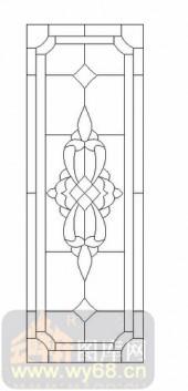 玻璃雕刻-12镶嵌-几何花纹-00039