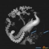 凤凰图-凤凰-011-雕刻灰度图