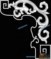 草龙-龙纹-020-龙凤灰度图案