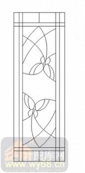 雕刻玻璃图案-12镶嵌-简约线条-00032