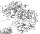 方版39,鹦鹉牡丹