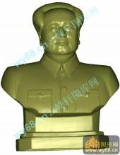 毛主席头像-电脑圆雕图库