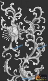 宝座综合-花魁-015-宝座浮雕灰度图