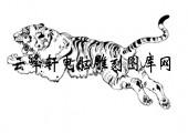 虎1-矢量图-虎啸风驰-28-虎雕刻图片