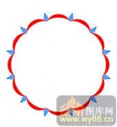 122种圆形边框矢量-美丽圆环-120种圆形边框矢量-027-镂空花纹矢量图