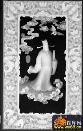 八仙003-曹国舅-RW-016-雕刻灰度图