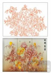2011设计艺术玻璃刻绘-花开富贵-艺术玻璃