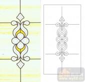 06欧式装饰系列样图-传统花纹-00002-玻璃门
