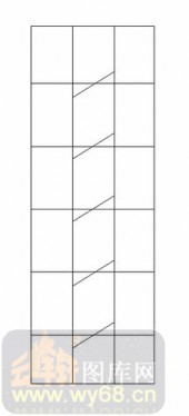 喷砂玻璃图库-12镶嵌-几何线条-00037