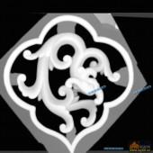 草龙-龙纹-027-龙凤精雕灰度图