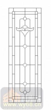 玻璃门-12镶嵌-几何花纹-00056