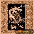 牡丹菊花凤凰-精雕雕刻图