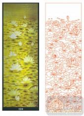 2011设计艺术玻璃刻绘-荷花2-喷砂玻璃图库
