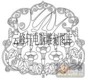 100个中国传统吉祥图-矢量图-燕子花卉-B-088-中国图片