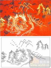 05肌理雕刻系列样图-山水之间-00077-雕刻玻璃