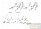 03动物系列-汗牛充栋-00044-艺术玻璃