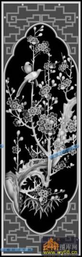 01-莺啼燕语-079-花鸟浮雕图库