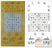 2011设计艺术玻璃刻绘-下棋图-喷砂玻璃图库