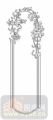 喷砂玻璃图库-08四扇门(4)-拱形花藤-00057