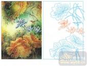 2011设计艺术玻璃刻绘-荷花1-喷砂玻璃图库