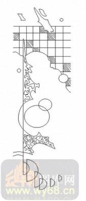 喷砂玻璃图库-06四扇门(2)-抽象图案-00038