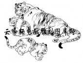 虎1-矢量图-猛虎深山 -20-电子版虎