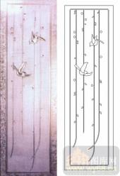 喷砂玻璃-浮雕贴片-春-00004