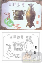 玻璃雕刻-肌理雕刻系列1-吉祥如意-00057