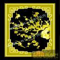 梅花鸟-中式图案浮雕图库