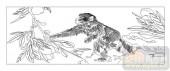 03动物系列-摘桃-00082-雕刻玻璃