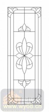 喷砂玻璃-12镶嵌-艺术花纹-00055