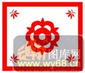 镂空装饰单式002-四角花纹-镂空装饰单式002-049-镂空雕刻模板下载
