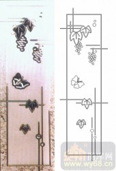 装饰玻璃-浮雕贴片-葡萄-00031