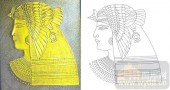 艺术玻璃图-肌理雕刻系列1-古埃及-00132