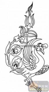 100个中国传统吉祥图-矢量图-凤凰-B-011-中国图片