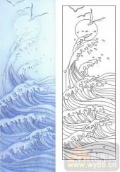 玻璃雕刻-肌理雕刻系列1-海浪-00139