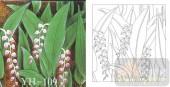 喷砂玻璃-肌理雕刻系列1-红花绿叶-00109