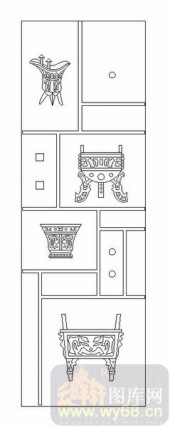 02古文化系列-陶情适性-00105-喷砂玻璃图库