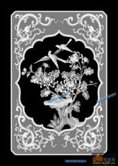 04-花鸟-076-花鸟雕刻灰度图