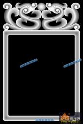 01-龙纹框-035-玉雕浮雕灰度图