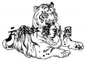 虎3-矢量图-虎踞龙盘-108-虎雕刻图片