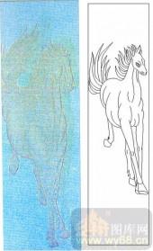 05肌理雕刻系列样图-骏马-00050-玻璃门