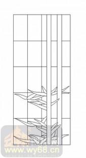 玻璃雕刻-12镶嵌-几何花纹-00041