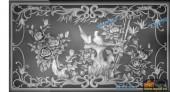03-繁花似锦-025-花鸟浮雕灰度图